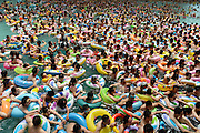 SUINING, CHINA - JULY 11: (CHINA OUT)<br /> <br /> People Escape Heat In Chinese Sea Of Death<br /> <br />  Visitors crowd at Chinese Sea of Death tourist resort in Daying County to escape high temperature on July 11, 2015 in Suining, Sichuan Province of China. Most parts in China ushered in hot weather in July and more than eight thousand visitors from every corner of China crowded to China Sea f Death to enjoy the cool. <br /> ©Exclusivepix Media