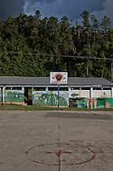 Basketball field. <br /> Cancha de basket.