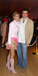 LADY ALEXANDRA SPENCER-CHURCHILL and DAVID PEACOCK at the annual Laurent Perrier Pink Party held at The Sanderson Hotel, Berners Street, London on 27th April 2005.<br />