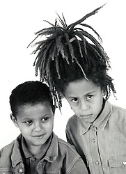 Portrait of two children UK 1990s MR