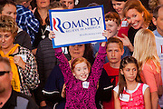 13 FEBRUARY 2012 - MESA, AZ:   Mitt Romney supporters wait for Romney to arrive at the Mesa Amphitheatre. Several thousand people crowded into the amphitheatre in Mesa, AZ, Monday night to hear Republican Presidential candidate Mitt Romney speak. Romney, a Mormon, is expected to win in Arizona, which has a large Mormon population. Arizona's Republican Presidential primary is February 28.      PHOTO BY JACK KURTZ  PHOTO BY JACK KURTZ  PHOTO BY JACK KURTZ