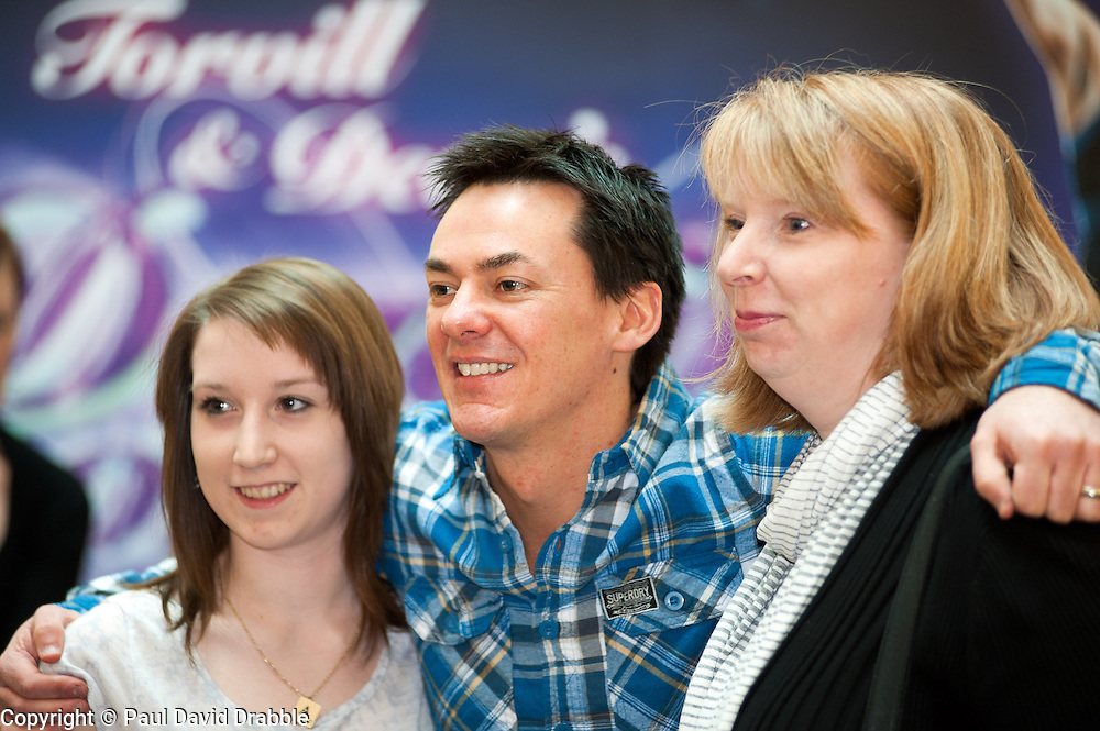 Radio 1's Comedy Dave Vitty, Chris Moyels Sidekick and now a Dancing On Ice Star was Signing autographs and meeting fans in Meadowhall Sheffield on Saturday 5th March, ahead of the Dancing on Ice Tour. As part of the promotion for the Dancing On Ice tour which sees its opening night at Sheffield Motorpoint Arena Sheffield on 9th April fans were also given the opportunity to win Torvill & Dean skating costumes as worn by the superstar skating couple. . 5 March 2011.Images © Paul David Drabble