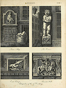 Fragments of Architecture in the City of London Copperplate engraving From the Encyclopaedia Londinensis or, Universal dictionary of arts, sciences, and literature; Volume XIII;  Edited by Wilkes, John. Published in London in 1815