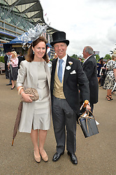 LORD & LADY LEIGH OF HURLEY at day one of the Royal Ascot 2016 Racing Festival at Ascot Racecourse, Berkshire on 14th June 2016.