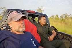 David & Akira Riding In Back Of Truck