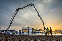 Firmin Construction pours a concrete pad at CBSL in Reserve, La.