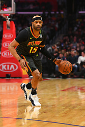 January 29, 2019 - Los Angeles, CA, U.S. - LOS ANGELES, CA - JANUARY 28: Atlanta Hawks Forward Vince Carter (15) looks to make a pass during a NBA game between the Atlanta Hawks and the Los Angeles Clippers on January 28, 2019 at STAPLES Center in Los Angeles, CA. (Photo by Brian Rothmuller/Icon Sportswire) (Credit Image: © Brian Rothmuller/Icon SMI via ZUMA Press)