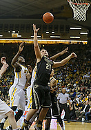 February 27 2013: Purdue Boilermakers guard/forward D.J. Byrd (21) looks to pull in a rebound during the first half of the NCAA basketball game between the Purdue Boilermakers and the Iowa Hawkeyes at Carver-Hawkeye Arena in Iowa City, Iowa on Wednesday, February 27 2013.