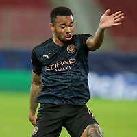 PIRAEUS, GREECE - NOVEMBER 25: Gabriel Jesus of Manchester City during the UEFA Champions League Group C stage match between Olympiacos FC and Manchester City at Karaiskakis Stadium on November 25, 2020 in Piraeus, Greece. (Photo by MB Media)