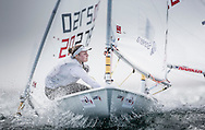 The 2015 Laser Women's Radial World Championship. Mussanah. Oman. November 18-26 November. Day 4 of racing - Tuula Tenkanen (FIN)<br /> Image licensed to Lloyd Images