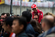 April 20, 2014 - Shanghai, China. UBS Chinese Formula One Grand Prix. Young F1 fan