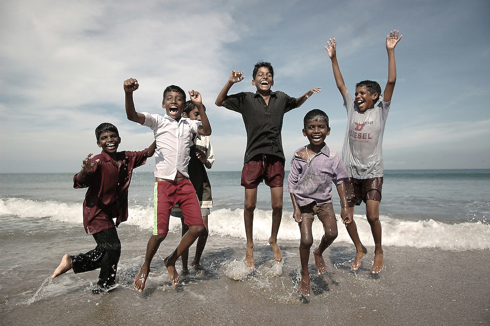 On the beaches of the bay of Bengal near Puikat lake, some ten months after the tsunami had washed these beaches, the children are no longer afraid of the sea.