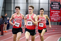 men Mile, 3, Simon Fraser, <br /> Boston University Scarlet and White<br /> Indoor Track & Field, Bruce LeHane