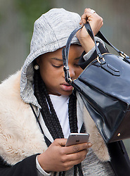 © Licensed to London News Pictures. 01/03/2017. London, UK. Shanique Pearson arrives at Isleworth Crown Court for sentencing in connection with a so called road rage incident with BBC broadcaster Jeremy Vine. Pearson was filmed confronting the Radio 2 presenter who was cycling in front of her car in August 2016 in Kensington. She faces a possible custodial sentence on charges of driving without reasonable consideration for other road users, using a vehicle without a valid licence and using threatening, abusive or insulting words or behaviour. Photo credit: Peter Macdiarmid/LNP