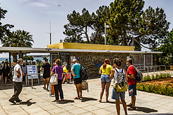 People waiting on the line to enter a beach during the official reopening of organized beaches to the public in Athens on May 16, 2020. Hundreds of organized beaches opened to the public on 16 May, though they are to operate subject to strict health and safety guidelines due to the coronavirus pandemic, amid forecasts of a record heat wave<br /> <br /> Pictured: <br /> Dimitris Lampropoulos  | EEm date