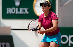 May 29, 2019 - Paris, FRANCE - Kristina Kucova of Slovakia in action during her second-round match at the 2019 Roland Garros Grand Slam tennis tournament (Credit Image: © AFP7 via ZUMA Wire)