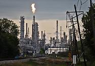 Flare at Valero's plant  in Norco. Louisiana.