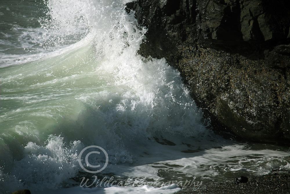 Big splashes at Oregon Coast