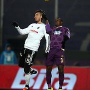 Besiktas's Oguzhan Ozyakup (L) during their Turkish Super League soccer match Osmanlispor between Besiktas at the Osmanli Stadium in Ankara Turkey on Monday 21 December 2015. Photo by Kurtulus YILMAZ/TURKPIX