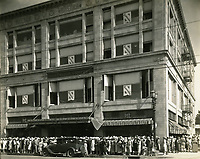 1928 Opening of Robertson Dept. Store on NW corner of Hollywood Blvd. & McCadden Pl.