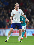 Tom Davies of England U21's during the U21 International match between England and Germany at the Vitality Stadium, Bournemouth, England on 26 March 2019.