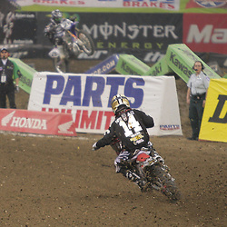 14 March 2009: Kevin Windham (14) races during the Monster Energy AMA Supercross race at the Louisiana Superdome in New Orleans, Louisiana