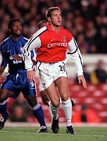 Matthew Upson (Arsenal). Arsenal 1:2 Ipswich Town, Worthington Cup, Third Round, 1/11/2000. Credit Colorsport / Stuart MacFarlane.
