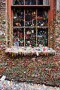 Stock photography from travel to the Gum Wall in the Pike Place Market in Seattle, Washington.