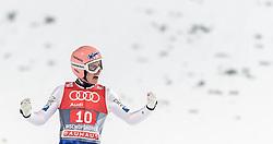 06.01.2016, Paul Ausserleitner Schanze, Bischofshofen, AUT, FIS Weltcup Ski Sprung, Vierschanzentournee, Bischofshofen, Finale, im Bild Stefan Kraft (AUT) // Stefan Kraft of Austria reacts after his 1st round jump of the Four Hills Tournament of FIS Ski Jumping World Cup at the Paul Ausserleitner Schanze in Bischofshofen, Austria on 2016/01/06. EXPA Pictures © 2016, PhotoCredit: EXPA/ JFK