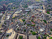Nederland, Overijssel, Gemeente Enschede; 21–06-2020; pverzicht centrum van de stad rond de Oude Markt met Grote Kerk. De historisch binnenstad is herbouwd na de Stadsbrand Enschede (1862). <br /> City center around the Oude Markt with Grote Kerk. The historic city center was rebuilt after the Enschede city fire (1862).<br /> luchtfoto (toeslag op standard tarieven);<br /> aerial photo (additional fee required)<br /> copyright © 2020 foto/photo Siebe Swart