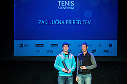 Miha Perus and Robi Cokan at Slovenian Tennis personality of the year 2016 annual awards presented by Slovene Tennis Association Tenis Slovenija, on December 7, 2016 in Siti Teater, Ljubljana, Slovenia. Photo by Vid Ponikvar / Sportida