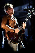 Photos of rock band Kings of Leon Performing at Verizon Wireless Amphitheater on September 25, 2010