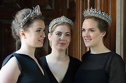 © London News Pictures. 03/04/15. London, UK. Three majestic tiaras on sale through Sotheby's, central London. The tiaras belonged to Mary, Duchess of Roxburghe. Photo credit: Laura Lean/LNP