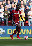 Middlesbrough FC midfielder Albert Adomah in acrtion during the Sky Bet Championship match between Middlesbrough and Leeds United at the Riverside Stadium, Middlesbrough, England on 27 September 2015. Photo by George Ledger.