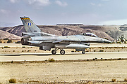 "Greek Air Force General Dynamics F-16C Block 52+ Ready for take off. Photographed at the  ""Blue-Flag"" 2017, an international aerial training exercise hosted by the Israeli Air Force (IAF) at Ouvda airfield, Israel. November 2017"