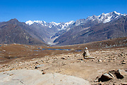 Local indigenous people in the High Altitude and remote Himalayan Landscape, Himalayas, Himachal Pradesh, India