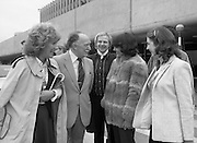 Wexford Opera Festival Stars Arrive.   (N44)..1980..05.10.1980..10.05.1980..5th October 1980..Today saw the arrival of some of opera's best singers arriving at Dublin Airport. The singers are en-route to Wexford for the annual Opera Festival.Among the noted opera singers to arrive in Dublin were, Magdelana Cononavici, Strasburg, Lesley Garrett, london, John Winfield, London and Christine Isley, United States. The artistes were met by Mr Justin Collins,Promotions Manager, Guinness and a member of the Wexford Festival Opera Council.