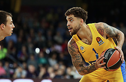 November 1, 2018 - Barcelona, Catalonia, Spain - Scottie Wilbekin during the match between FC Barcelona and Maccabi Tel Aviv, corresponding to the week 5 of the Euroleague, played at the Palau Blaugrana, on 01 November 2018, in Barcelona, Spain. (Credit Image: © Joan Valls/NurPhoto via ZUMA Press)