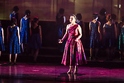 Karen Chila-Ling Ho as Violetta in Verdi'a La Traviata in the Philharmonia Orchestra's production at the Rose Theater at Jazz at Lincoln Center.