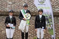 Podium Z2, Van den Broeck Linea, Coomans Pauline, Van Dijck Sakina<br /> Nationaal Kampioenschap LRV <br /> Paarden Dressuur - Oudenaarde 2020<br />  04/10/2020