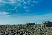 Two men on coastal rocks in Doolin, County Clare, West Coast of Ireland