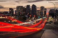 Light Trails on 8th Street & Bellevue Skyline