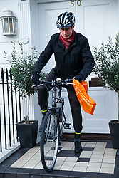 © Licensed to London News Pictures. 14/01/2016. London, UK. Health Secretary Jeremy Hunt leaving his London home on Thursday, 14 January 2016. Photo credit: Tolga Akmen/LNP