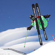 Kentaro Tsuda, Japan, in action in the Men's Halfpipe Finals during The North Face Freeski Open at Snow Park, Wanaka, New Zealand, 3rd September 2011. Photo Tim Clayton..