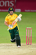 Chris Nash of Nottinghamshire during the Vitality T20 Blast North Group match between Nottinghamshire County Cricket Club and Leicestershire County Cricket Club at Trent Bridge, Nottingham, United Kingdom on 1 October 2020.