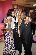 l to r: Sade Lycott, Avery Brooks and Shirely Faison at the Dr. Barbara Ann Teer's Institute of Action Arts launch for the 41st  Communication Arts Program Symposium held at The National Black Theater in Harlem, NY on March 27, 2009