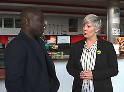 Kweku Adoboli Facing Deportation, Friday 12th October 2018<br /> <br /> Former trader Kweku Adoboli is facing deportation to Ghana having previously been jailed for illegal trading. Local MP Hannah Bardell spoke with Mr Adoboli today after politicians signed a cross-party letter to the Home Secretary imploring him to stop the deporatition.<br /> <br /> Pictured: Kweku Adoboli and Hannah Bardell MP<br /> <br /> Alex Todd   Edinburgh Elite media