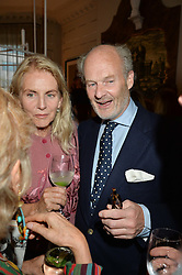 GAEL BOGLIONE and HARRY FANE at a party to celebrate the publication of 'A Girl From Oz' by Lyndall Hobbs held at Flat 1, 165 Cromwell Road, London on 12th May 2016.