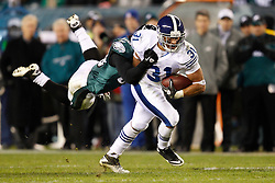Indianapolis Colts running back Donald Brown #31 carries the ball during the NFL Game between the Indianapolis Colts and the Philadelphia Eagles. The Eagles won 26-24 at Lincoln Financial Field in Philadelphia, Pennsylvania on Sunday November 7th 2010. (Photo By Brian Garfinkel)