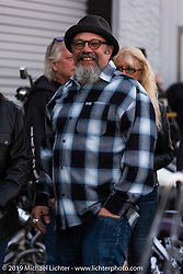 Bob Kay at Bill Dodge's Blings Cycles' industry party during Daytona Bike Week. Daytona Beach, FL. USA. Wednesday March 14, 2018. Photography ©2018 Michael Lichter.